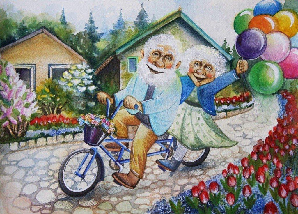 поздравления для пожилых людей с днем свадьбы цвет